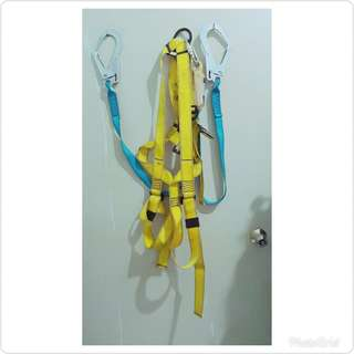 🚚 雙鉤牌背負式安全帶雙大鉤鋁合金扁帶掛鉤🎀