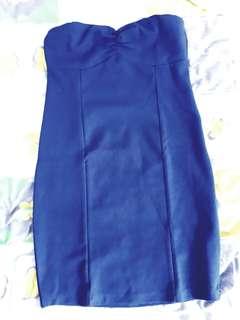 Terranova blue tube party dress medium