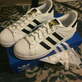 Adidas Superstar Shoes (Cloud White, Core Black) Men's Originals