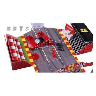 <現貨> 法拉利合金汽車模型 帶賽車比賽場景 兒童玩具小汽車