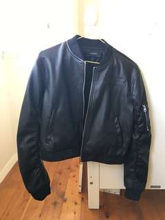 ZARA Black Faux Leather Jacket