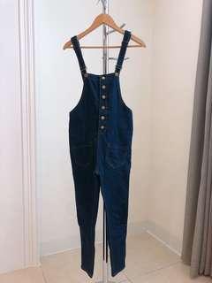 🚚 藍色吊帶褲