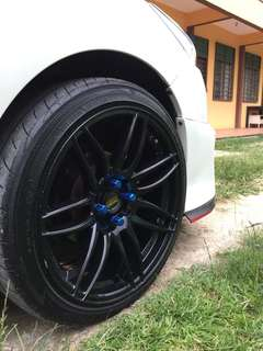 "Rim 17"" With Tyres"