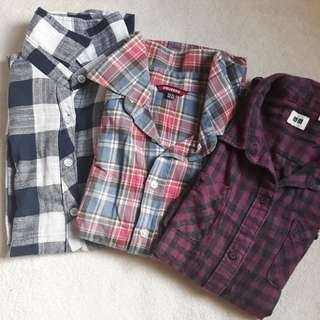 Long sleeves checkered