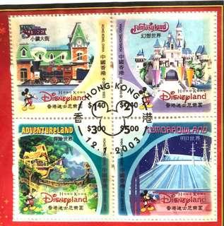 迪士尼紀念郵票(首日封)