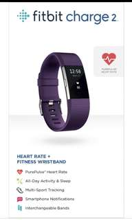 Fitbit Charge 2 (L Size) Available in Blue and Plum Colour