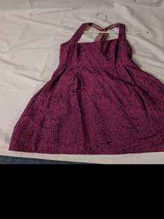 Purple dress with pockets 8