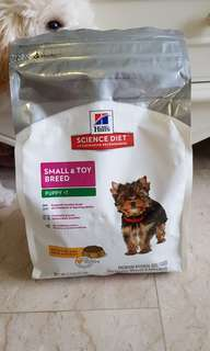 Hills Science Diet small & toy breed puppy dry food