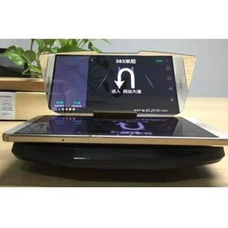 HUD Mobile Phone Display Holder with wireless chariging