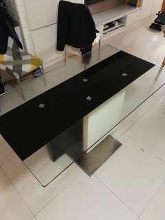 Sansiro Dining Table Tempered Glass