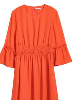 H&M Orange Chiffon Dress