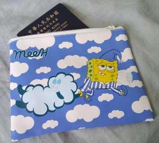 Meeh絕版 海綿寶寶實用小袋