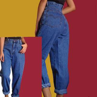 blue soft denim mom jeans