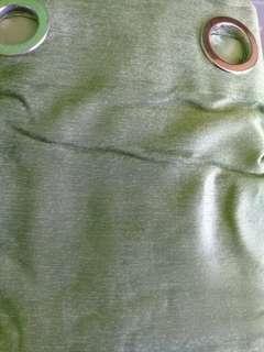 Grumpy- Green Curtain