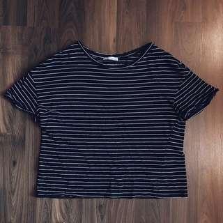 Zara Trafaluc Stripes Top