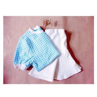 🚚 藍格紋短袖上衣#一百元上衣