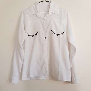 Eyelash blouse