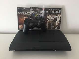 Sony PS3 + 3 Games