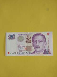 Sg $2 Y2k 168668 fancy num