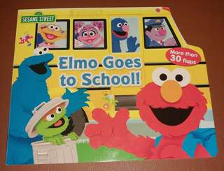 Elmo Goes to School! Lift the flap board book