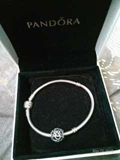 Original and used pandora bracelet with free charm