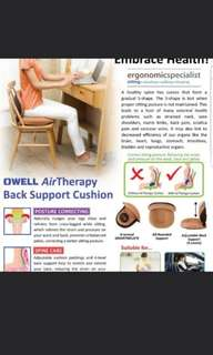 EXCELLENT highly popular OWELL air therapy back support cushion back support!