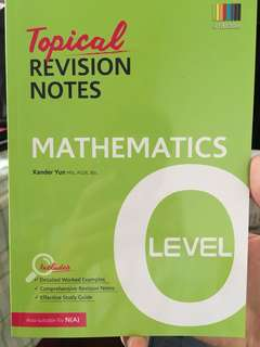Topical Revision Notes Maths O levels