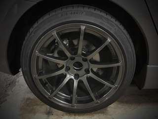 Rim 17 Advan RSV with new tyres