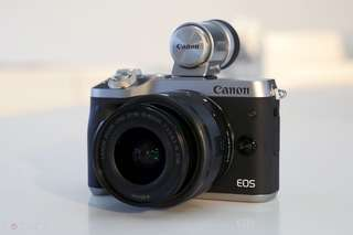 Kredit Canon EOS M6 Mirrorless Digital Camera with 15-45mm Lens tanpa Dp