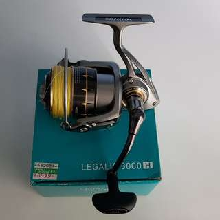 Daiwa Legalis 3000 fishing reel (with braided line) & Surecatch telescopic rod combo