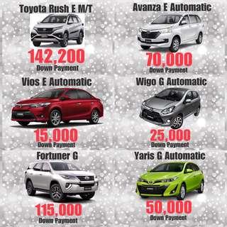 Toyota Low Down Promo