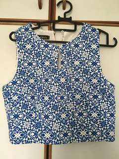 Patterned Crop Top