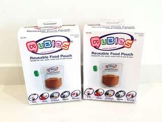 Qubies Reusable Food Pouch