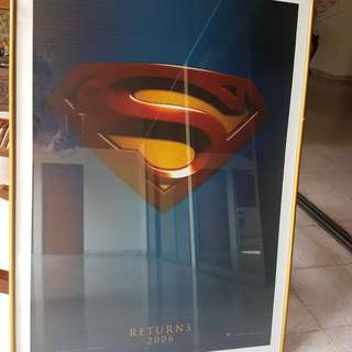 Superman Poster With Gold Frame