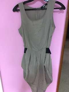 ASOS Tulip Hem Belted Dress UK 6