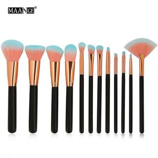🦋MAANGE 12Pcs/set Blending Foundation Makeup Brush Set🦋