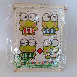 ❎❎清倉跳樓不議價❎❎ sanrio Kerokerokeroppi 青蛙 風箏明信片 1990年