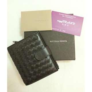 全新 BOTTEGA VENETA 121059 Brown Short Wallet 啡色 經典 編織 小羊皮 短銀包 錢包
