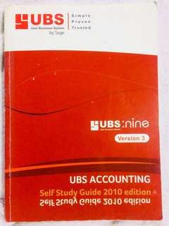 UBS Accounting Self Study Guide