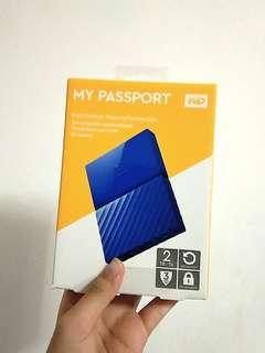 HDD EXTERNAL 2 TERRA WD PASSPORT BIRU FREE CASING