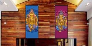 🚚 瑜珈系列民族風掛布畫(有9款) 象神壁掛裝飾民族掛毯布藝掛畫 民宿裝飾畫牆布畫 壁掛畫裝飾客廳臥室家居教室瑜伽會館裝飾