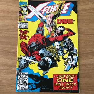 X-Force #15 1992yr first Deadpool vs Cable issue