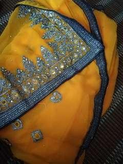 Yellow Saree Made In India