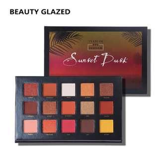 🦋BEAUTY GLAZED Pressed Sunset Glitter injection EteShadow🦋