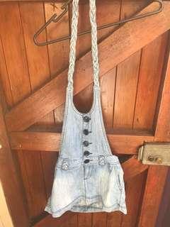 Denim dungarees dress