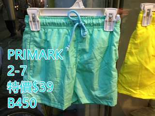 PRIMARK 男女童沙灘褲仔 特價 $39/條 包平郵