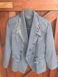 Vintage Blue Blazer Jacket