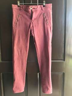 COTTON ON Maroon Skinny Jeans