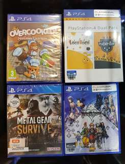 PS4 Games 30% off! (Metal Gear Survive / Overcooked! / Playstation Dual Pack / Kingdom Hearts HD 2.8)
