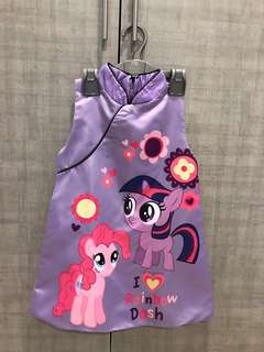 Little poney cheongsam in purple